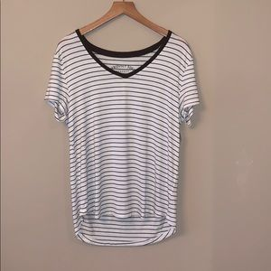 NWT Striped V-Neck Seriously Soft Shirt